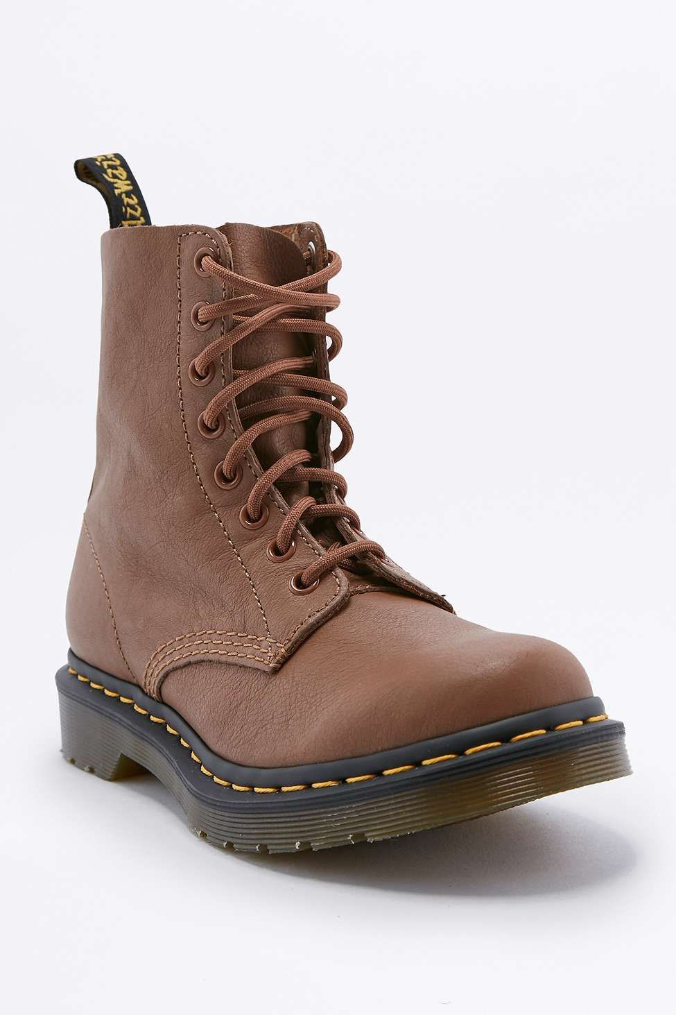 Dr. Martens Pascal Eight-Eyelet Brown Boots  theyre pnly £65