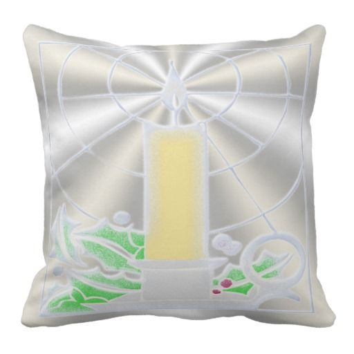 Opalescent Christmas Candle 20x20 inch Throw Pillows. http://www.zazzle.com/opalescent_christmas_candle-189520973902865320?rf=238575087705003771