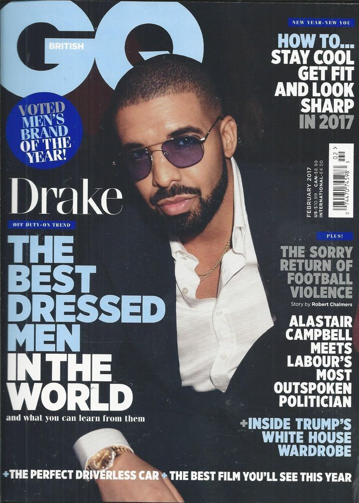 2d569aef36 GQ magazine Drake Best dressed men in the world Donald Trump Soccer violence