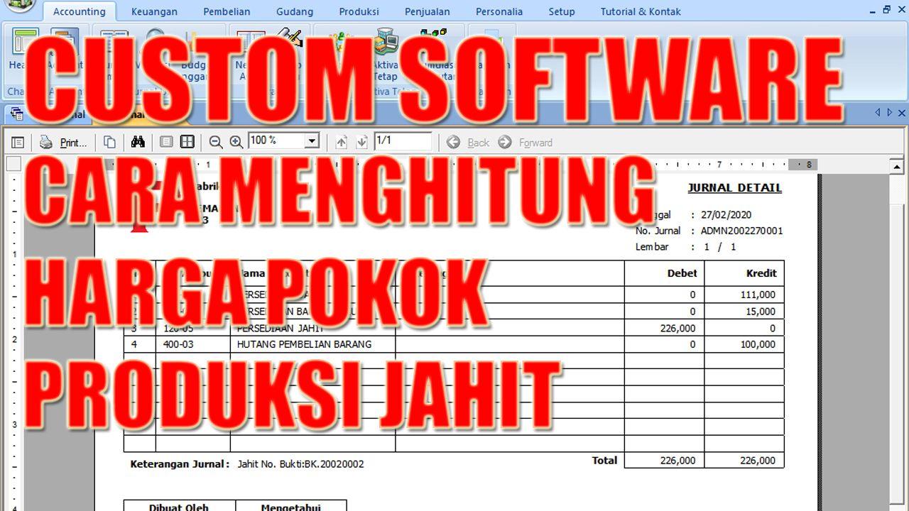 Custom Software Cara Menghitung Harga Pokok Produksi Jahit Software Custom Cara