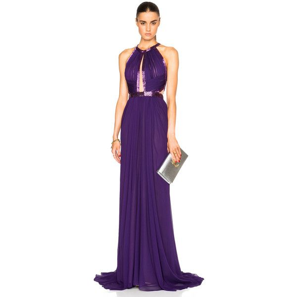J. Mendel Silk Chiffon Halterneck Gown | Fashion | Pinterest ...