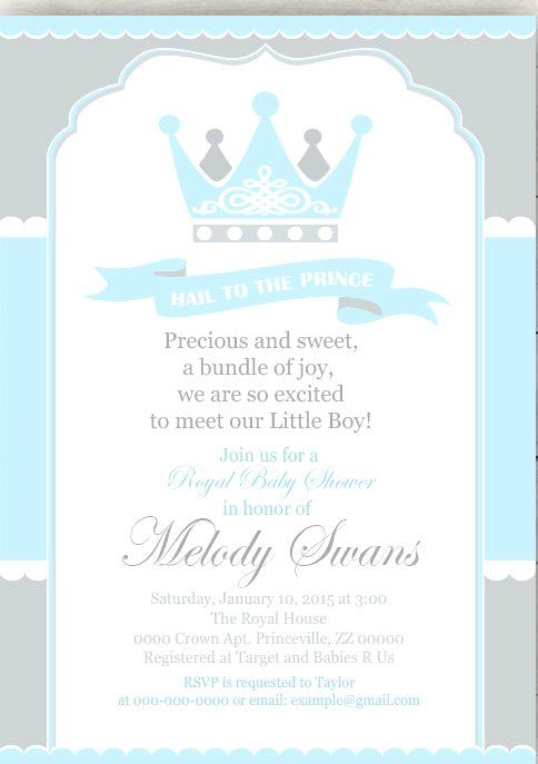 Little Prince Baby Shower Invitations Fresh Baby Gift Ideas
