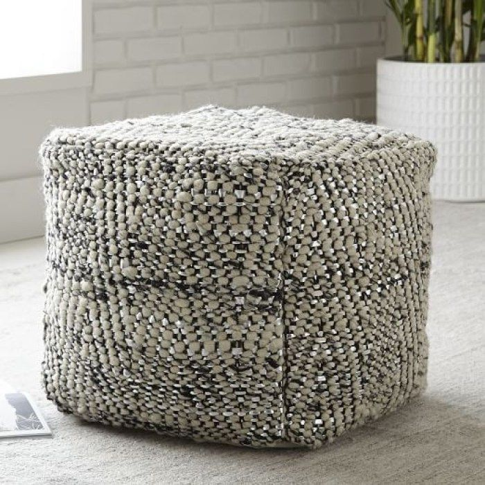 Inspired By DIY West Elm Herringbone Booth Ideas And Upcycle Best West Elm Pouf Review