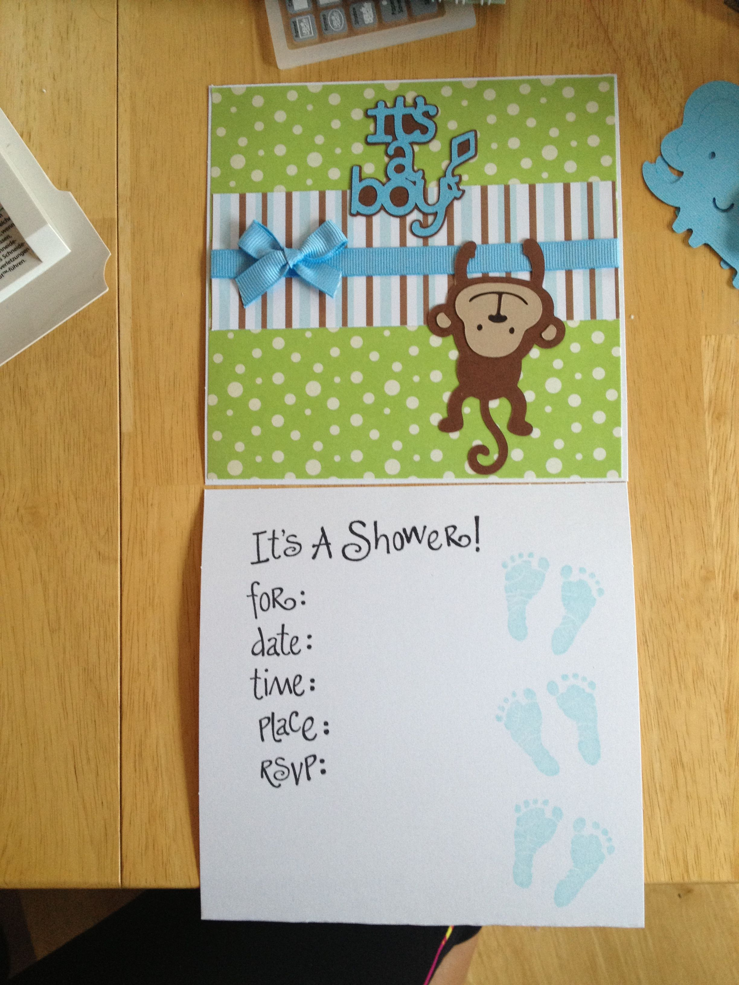 Monkey Baby Shower Invitation Cricut