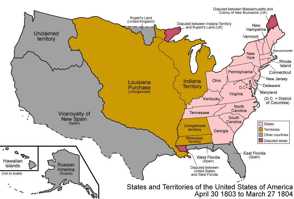 Map Of The States And Territories Of The United States As It Was - Louisiana on us map