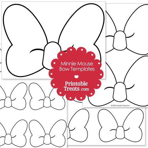 Printable Minnie Mouse Bow Template from PrintableTreats.