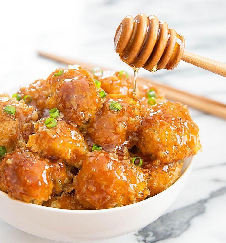 Honey Garlic Baked Cauliflower - Honey Garlic Baked Cauliflower -