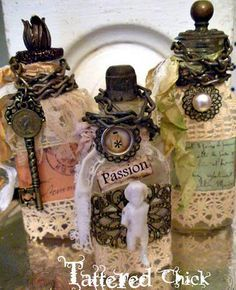 altered jars and bottles - Google Search
