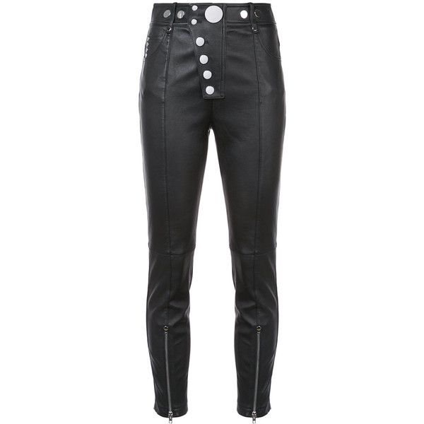 5a0c1466ff25 Alexander Wang Leather Leggings With Multi-Snap Detail ( 1