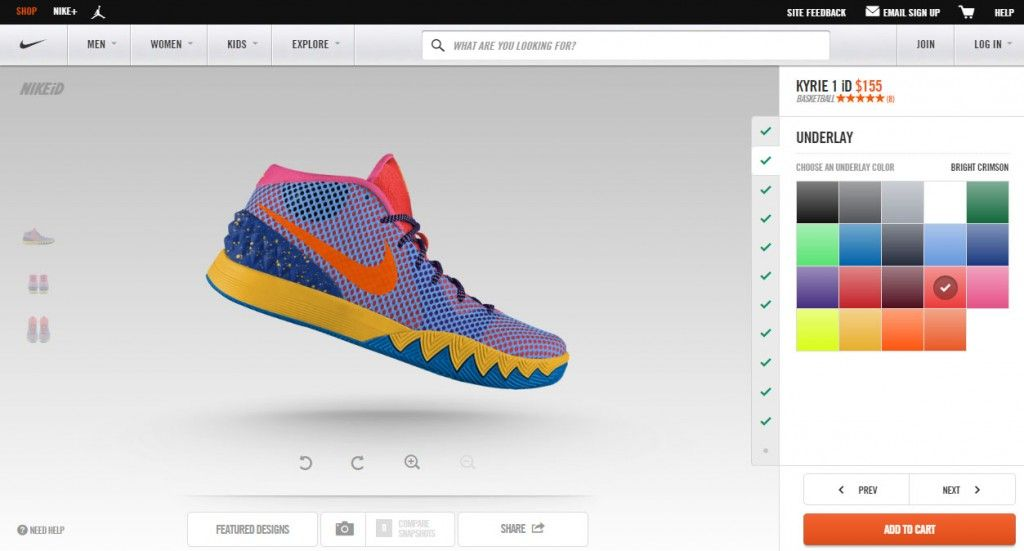 hot sale online 130cd 9d1cd Customize Your Own Kyrie Irving Shoes