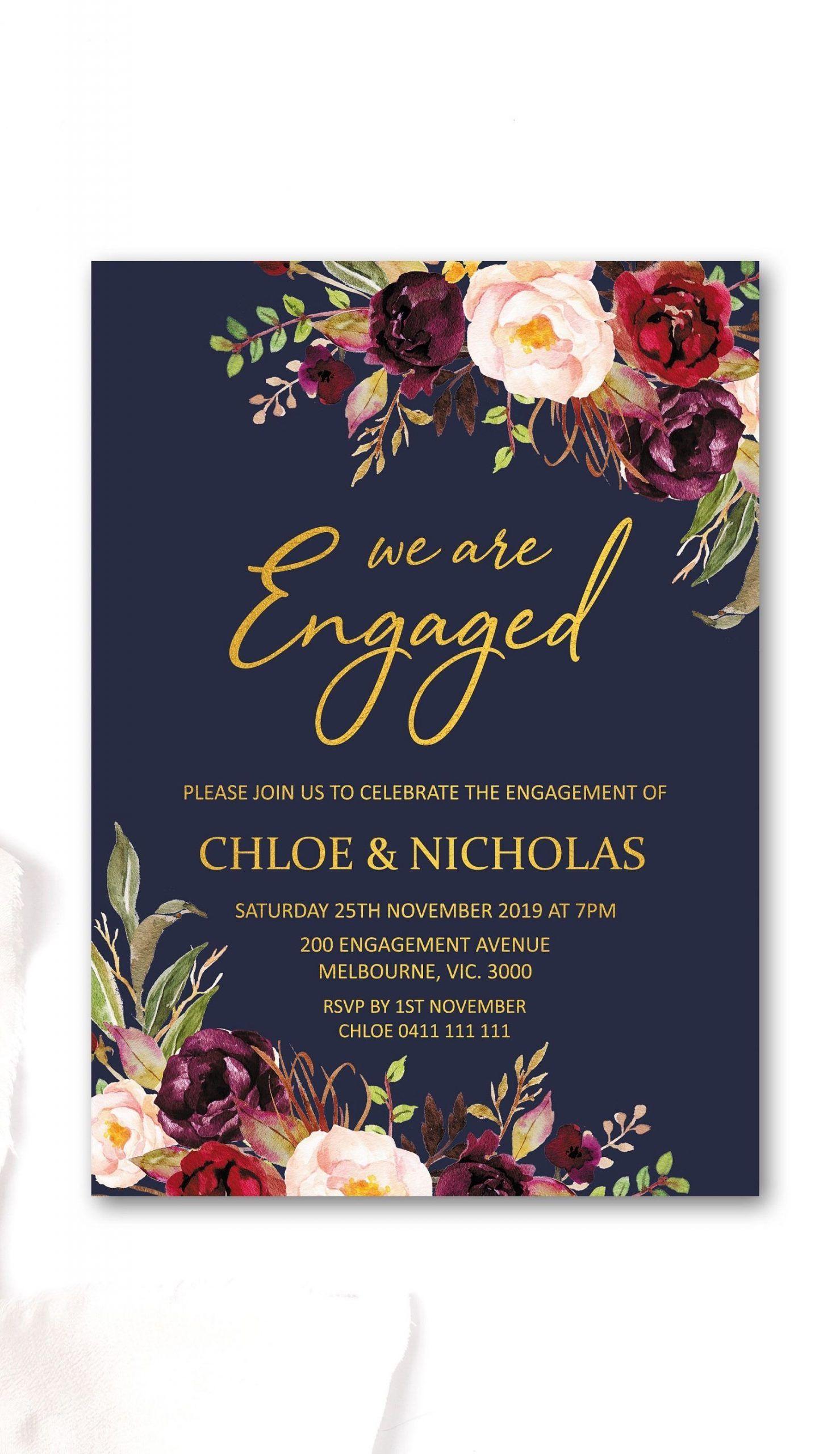 Date Night Invitation Template Engagement Party Invitations Engagement Invitation Cards Printable Engagement Party Invitations