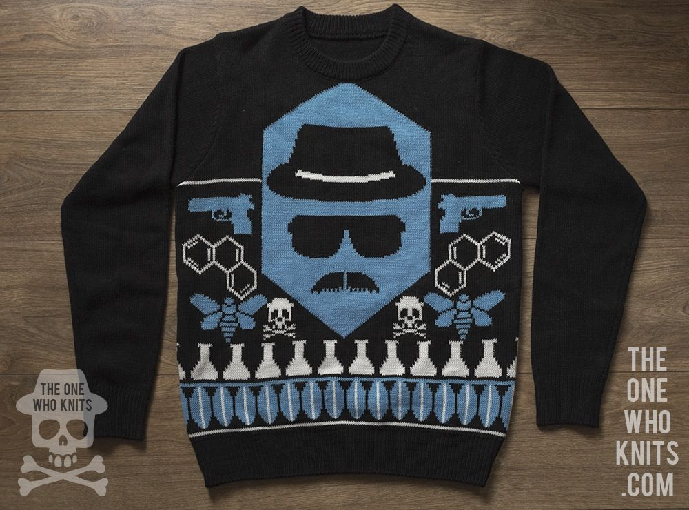 limited edition heisenberg knitted christmas sweater