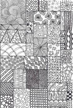 Lines Patterns Zentangle Drawings Zentangle Patterns Tangle Art