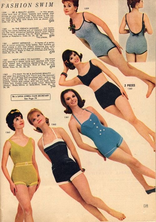 3849361e02 I love the design of swimsuits from the 1960s and I think these could lend  themselves well to lighting design.