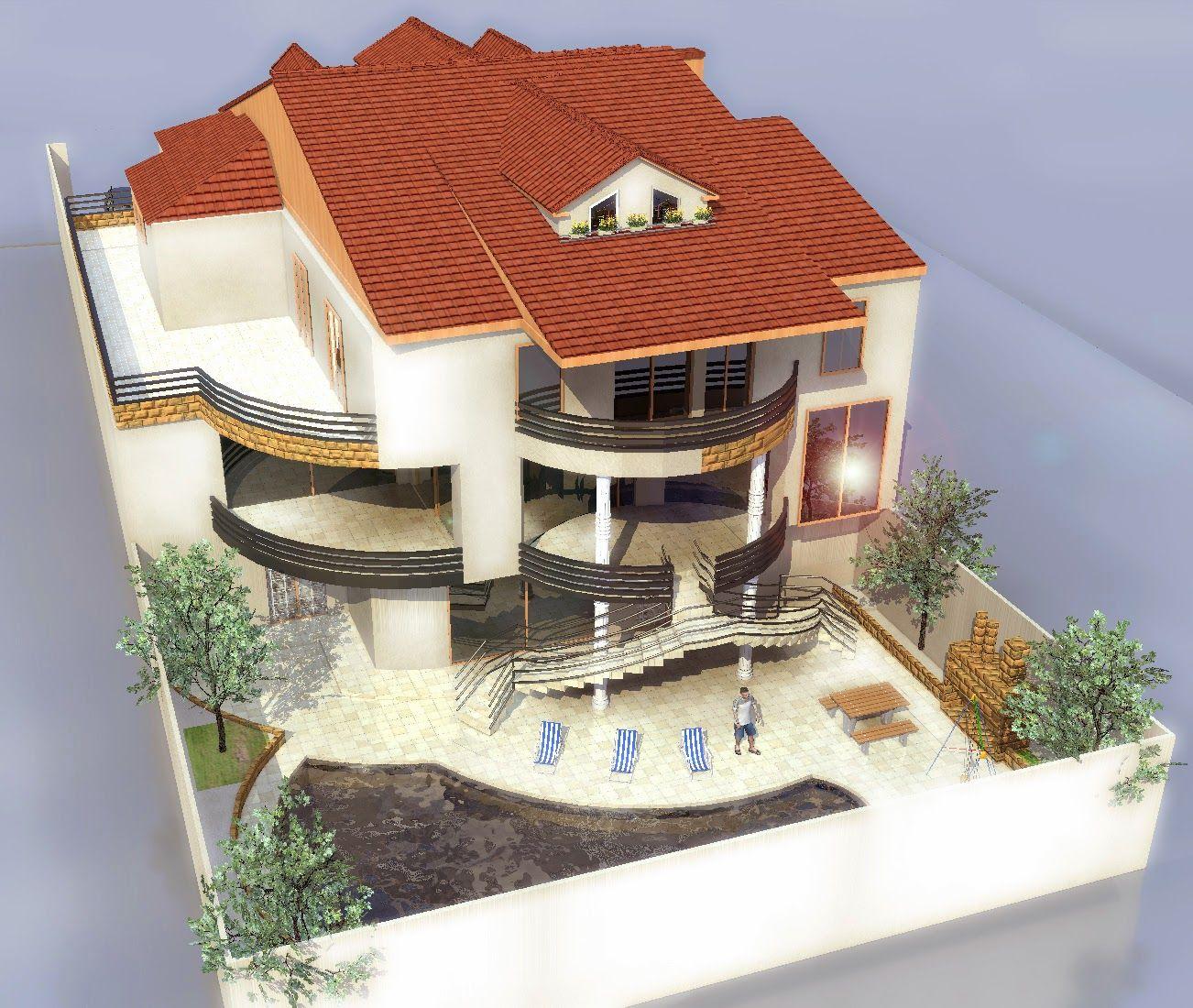 Conception 3d D U0026 39 Un Plan De Maison Plain Maison Design