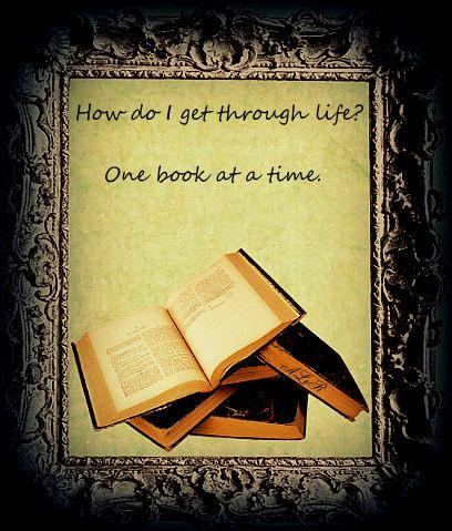 Wie komme ich durch das Leben? Mit einem Buch nach dem anderen.