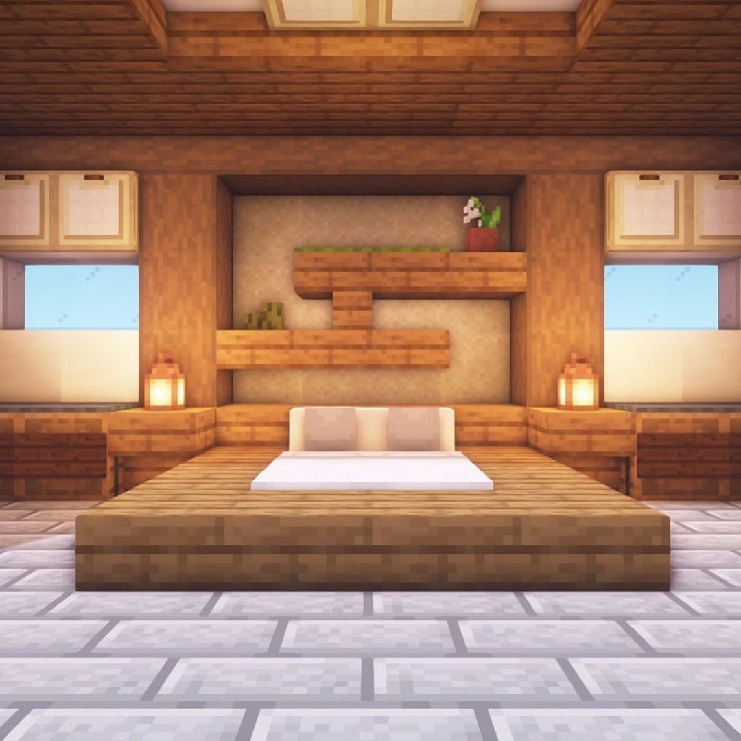Pin By Big Mountain On Happy Gaming Minecraft Bedroom Game Minecraft Room Minecraft Bedroom Luxury rooms in minecraft