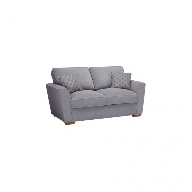Silver Fabric Sofas 2 Seater Sofa Bed Nebraska Range Oak Furnitureland Sofa Sofa Bed Cushions On Sofa