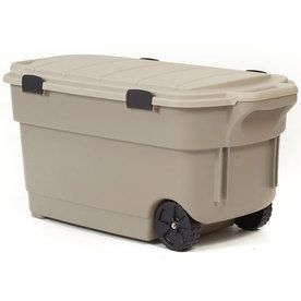 Centrex Plastics LLC Rugged Tote Brown Tote with Latching Lid at Loweu0027s. A 45 Gallon wheeled rugged storage box made of durable plastic.  sc 1 st  Pinterest & Centrex Plastics LLC Rugged Tote 45-Gallon Tote with Latching Lid ...