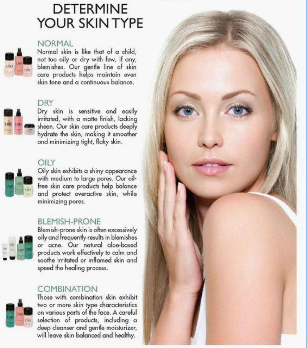 Determine your skin type. Skin