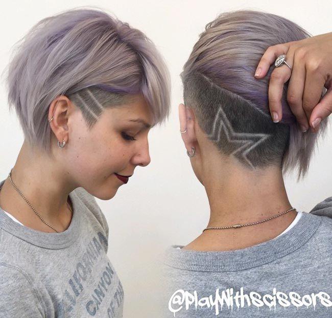 45 Undercut Hairstyles With Hair Tattoos For Women Short Hair