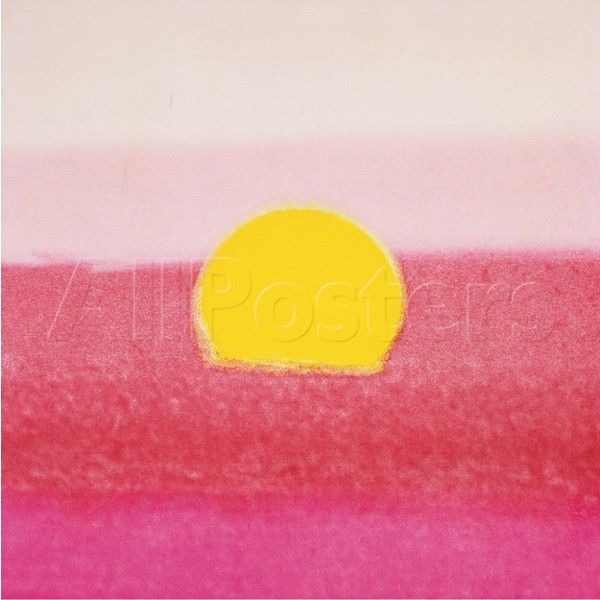 Sunset, c.1972 40/40 (pink) Wall Art Print ($10) ❤ liked on ...