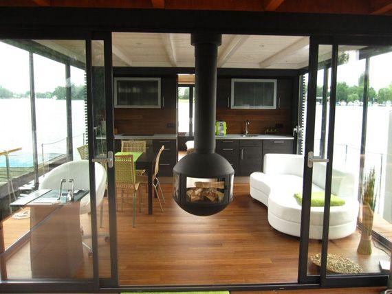 Galileo Faserbambusparkett Im Luxus Hausboot