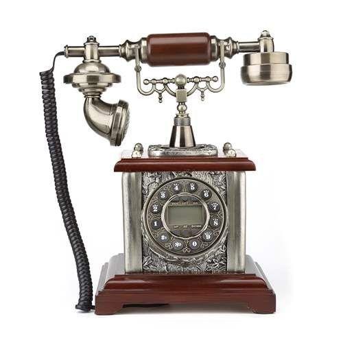 LNC Retro Vintage Antique Style Push Button Dial Desk Telephone