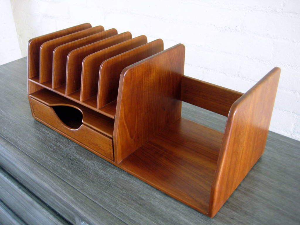 A Hans Wegner Danish Teak Wood Desk Organizer