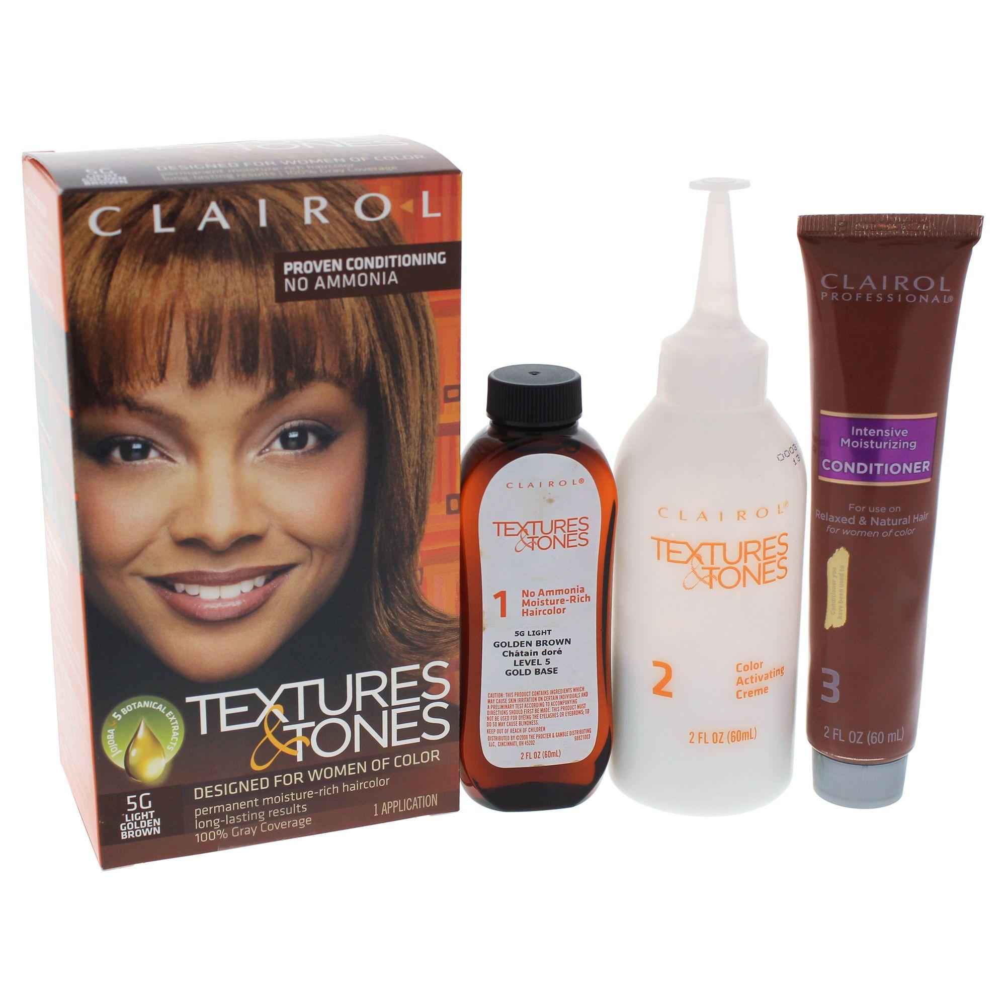 Clairol textures tones permanent moisturerich haircolor