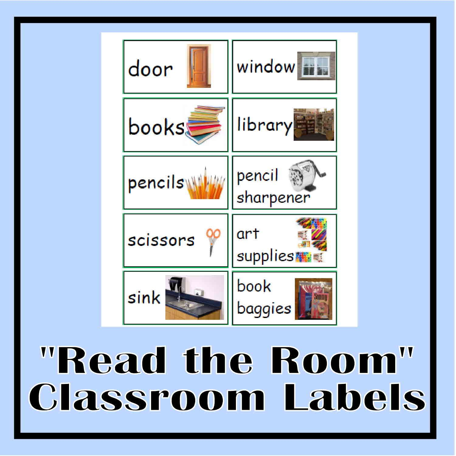 Read the room classroom labels classroom labels english for Room labels