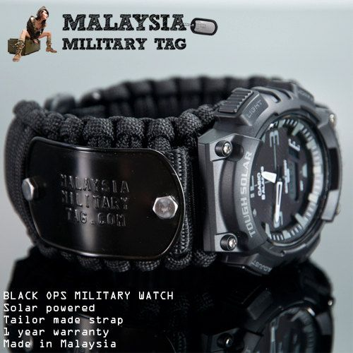 black ops paracord military watch customize by militarytag black ops paracord military watch customize by militarytag