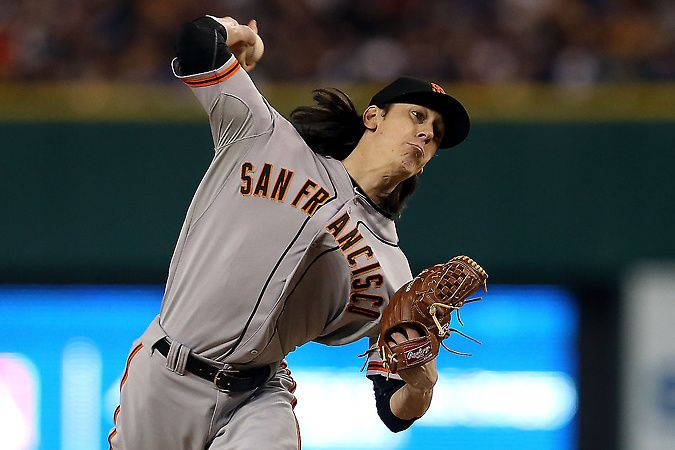 World Series: Giants vs Tigers Game 3 Tim Lincecum #55