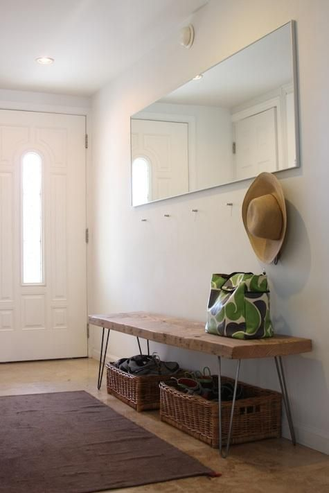 Steal This Look: DIY Entryway with Hairpin Leg Bench - Remodelista