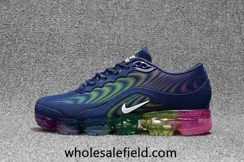 1d3dce9e23b Nike Air Max 2018.5 KPU Dark Blue Rainbow Sole Women Men