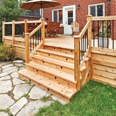 Fabriquer un escalier de patio - En étapes - Jardinage et extérieur - fabriquer escalier exterieur bois