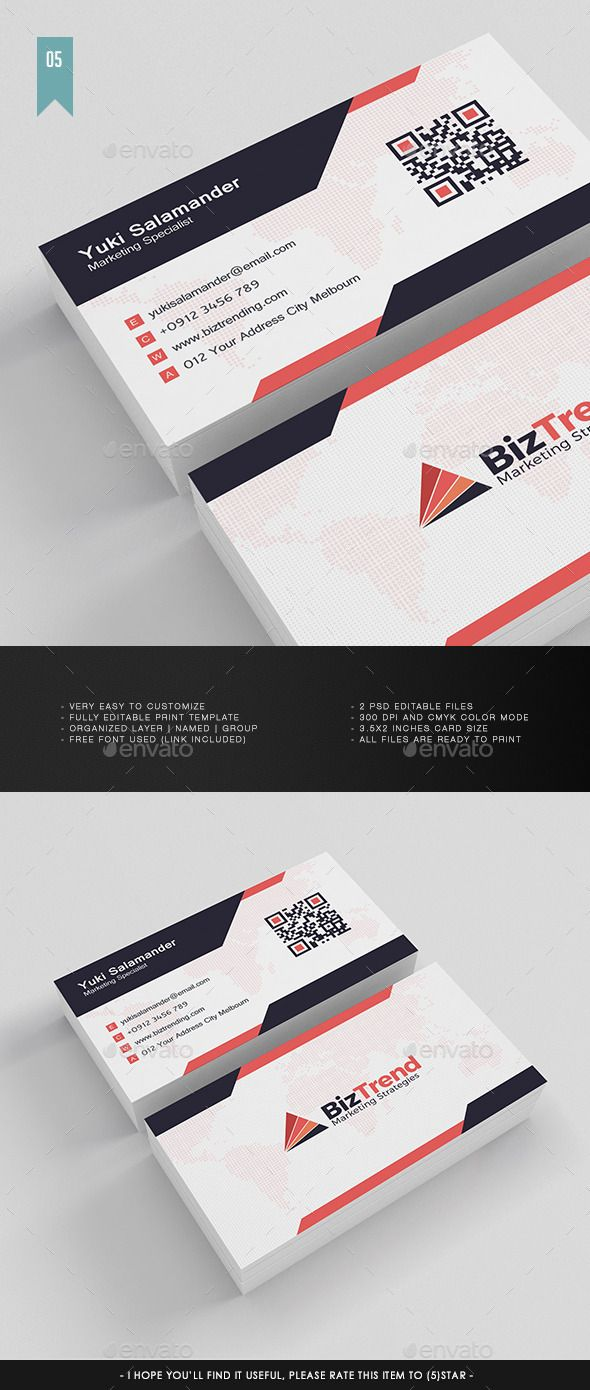 Business Card V005 Card Templates Business Cards And Template