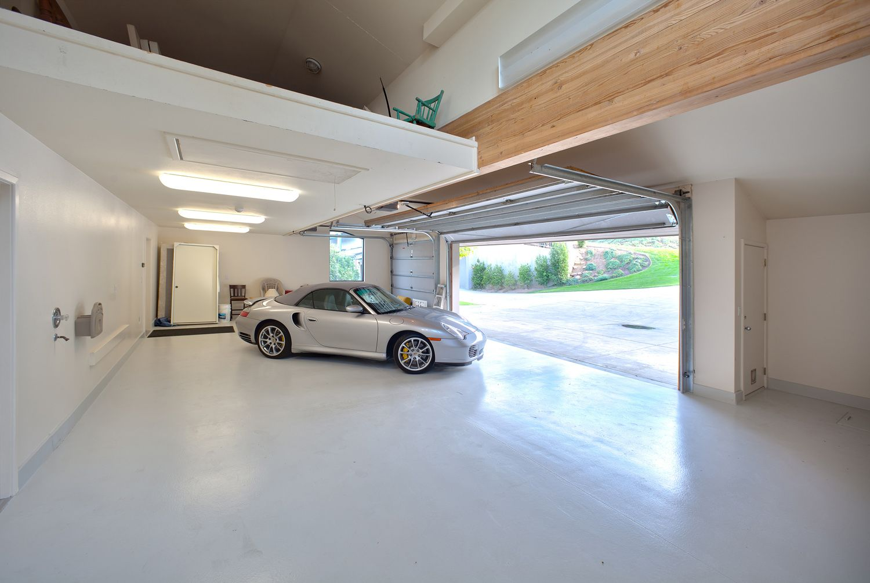 White Garage Garage Interior Modern Garage Garage Design In 2020 Garage Interior Modern Garage Garage Design