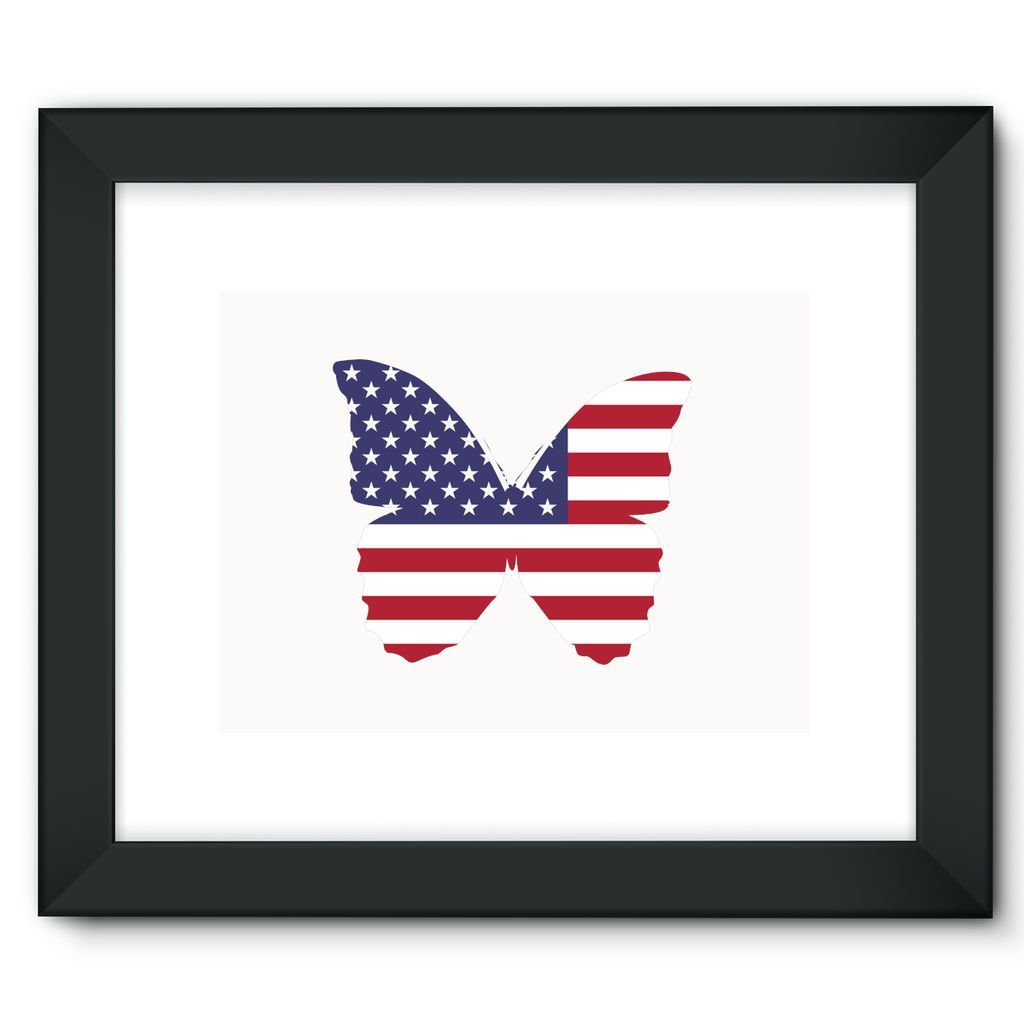 USA Flag Butterfly Framed Fine Art Print | Art Prints :) | Pinterest ...