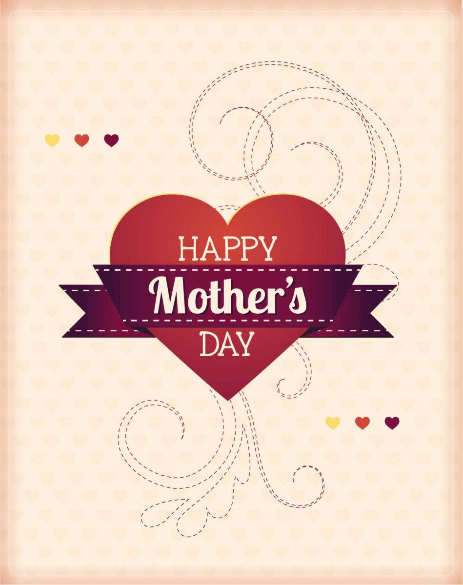 Mothers day with hearts card vector bilderchen pinterest mothers day with hearts card vector mothers day card messagesmothers day greeting kristyandbryce Gallery