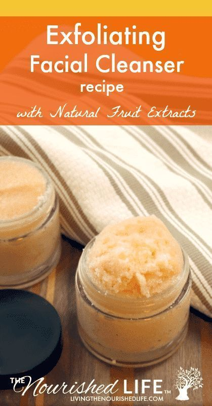DIY Exfoliating Facial Cleanser | The Nourished Life #homemadeskincare If you're looking to make your own DIY homemade facial cleanser, check out this super simple and easy recipe! This recipe is perfect for pore cleansing, exfoliating, and face masks and is made with natural fruit extracts! #diy #recipes #homemade #skincare | livingthenourishedlife.com #homemadeskincare