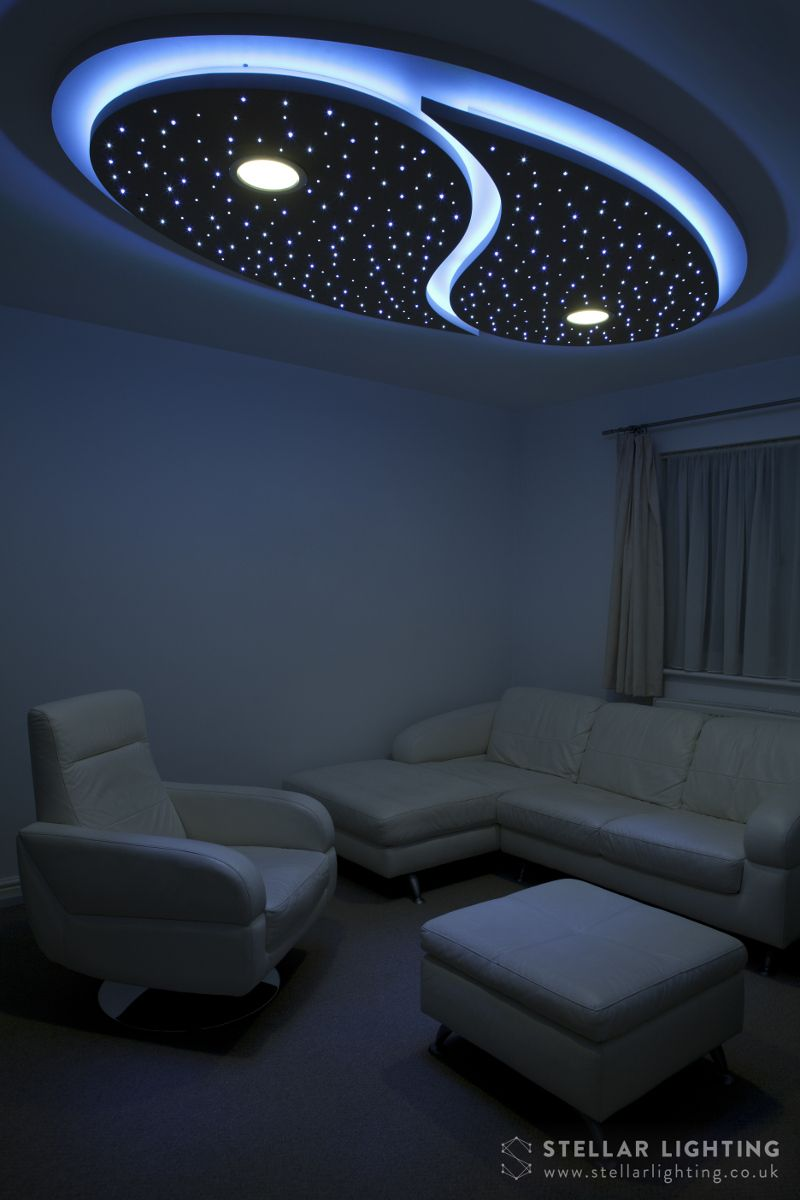 Yin And Yang Custom Made Starry Sky Led Ceiling Lighting
