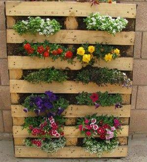 Cómo Hacer Una Jardinera De Madera Con Palets Pallet Garden Vertical Pallet Garden Pallets Garden