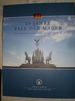 Gold Silber Münzen 25 Jahre Fall Der Mauer 4x Silber 1x