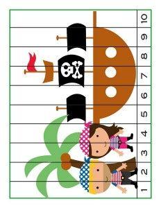 pirate worksheets number puzzle | Piraten | Pinterest | Pirat, Mathe ...
