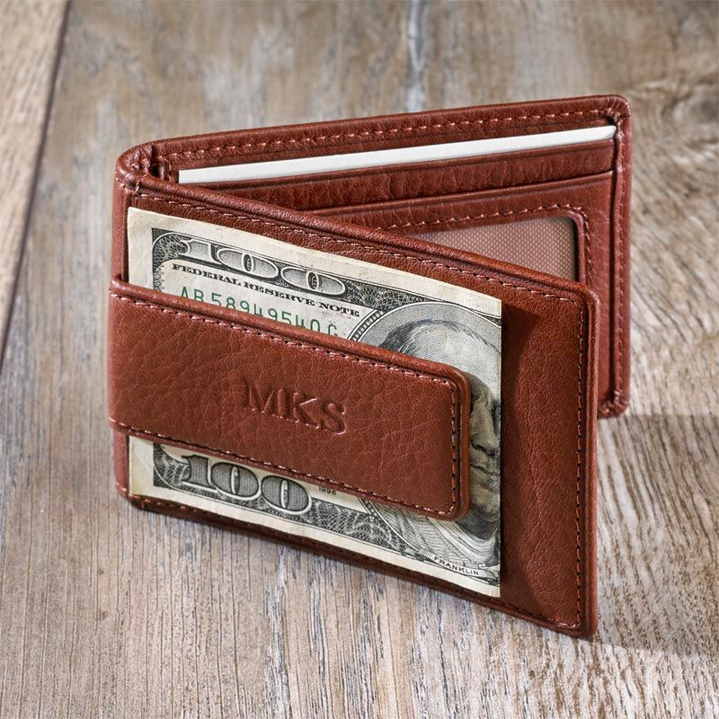 d9c46e739677 Privacy Billfold Wallet with Magnetic Money Clip • A men s leather wallet  with money clip This wallet s slim design includes a money clip for cash