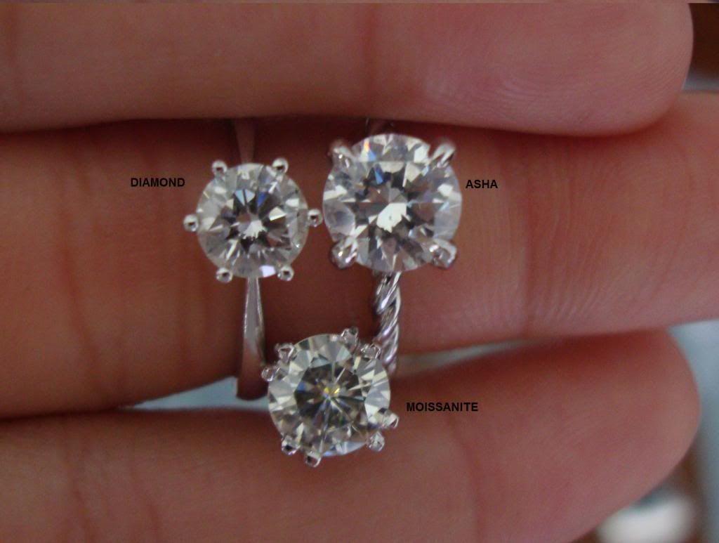 Asha vs Moissanite vs Diamond | Dream Wedding Jewels | Pinterest ...