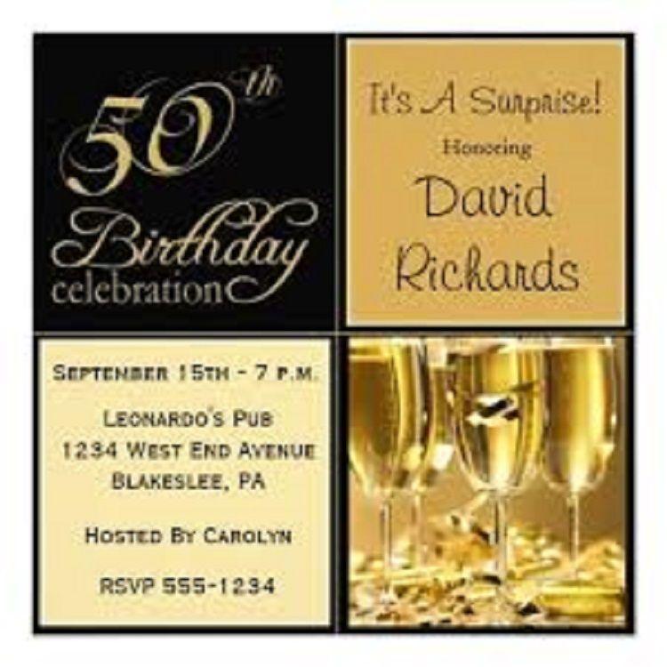 50th Birthday Electronic Invitations