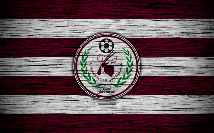 футбол 1 Wallpaper: Download Wallpapers Al Markhiya FC, 4k, Logo, Qatar Stars