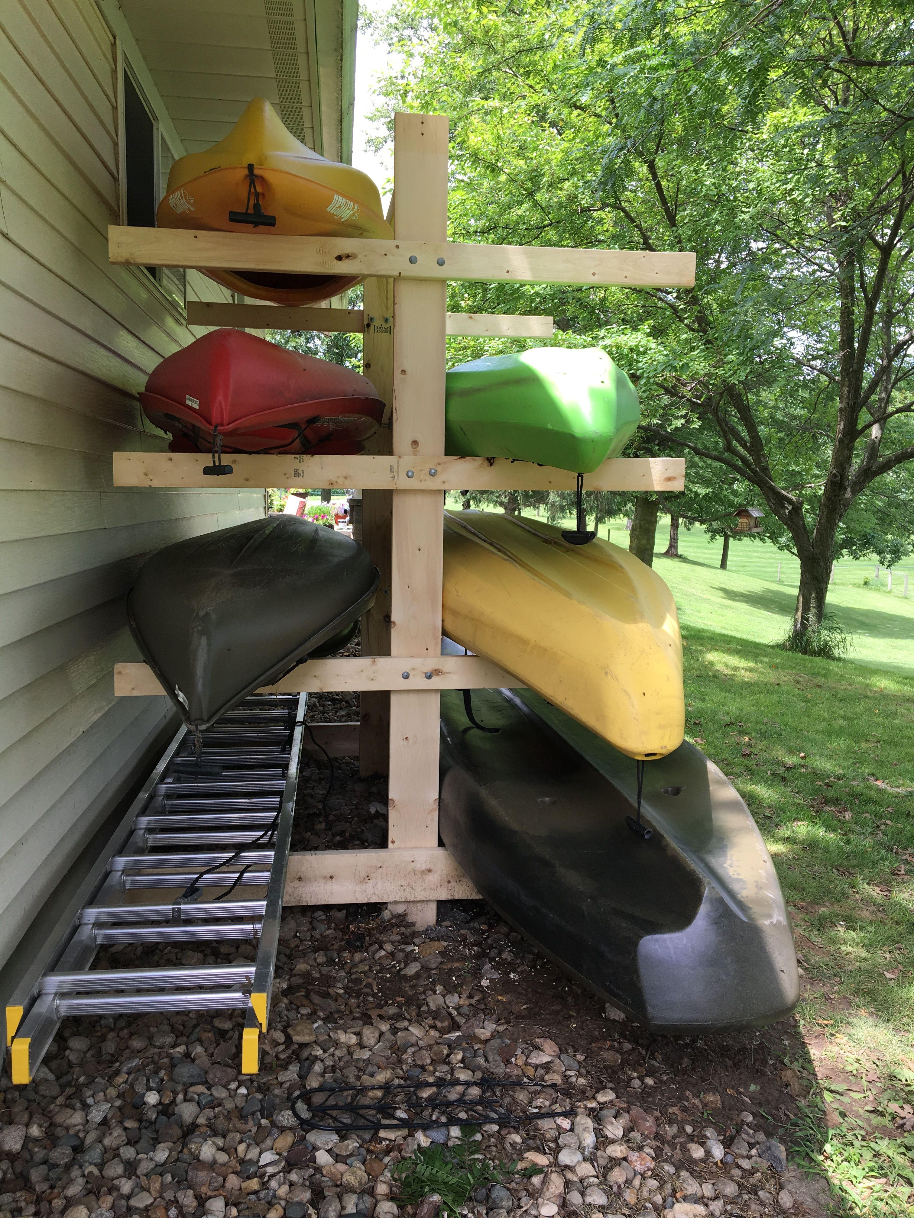 Kayak Rack Kayak Storage Rack Diy Kayak Storage Kayak Storage Diy backyard kayak rack